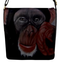 The Thinker Flap Messenger Bag (s) by timelessartoncanvas