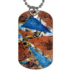 Triangles Dog Tag (two Sides) by timelessartoncanvas