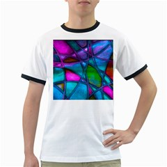 Imposant Abstract Teal Ringer T-Shirts by ImpressiveMoments