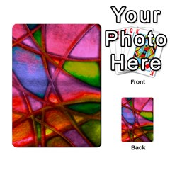 Imposant Abstract Red Multi Purpose Cards (rectangle)
