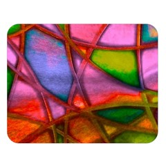 Imposant Abstract Red Double Sided Flano Blanket (large)  by ImpressiveMoments