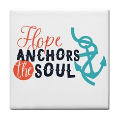 Hope Anchors The Soul Nautical Quote Tile Coasters