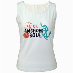 Hope Anchors The Soul Nautical Quote Women s Tank Tops by CraftyLittleNodes