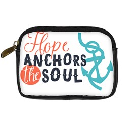 Hope Anchors The Soul Nautical Quote Digital Camera Cases by CraftyLittleNodes