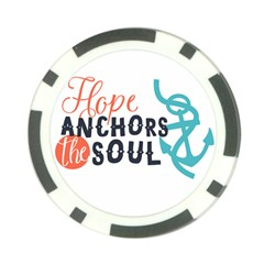 Hope Anchors The Soul Nautical Quote Poker Chip Card Guards (10 Pack)  by CraftyLittleNodes