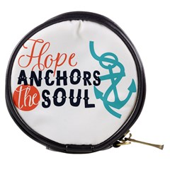 Hope Anchors The Soul Nautical Quote Mini Makeup Bags by CraftyLittleNodes