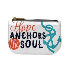 Hope Anchors The Soul Nautical Quote Mini Coin Purses by CraftyLittleNodes