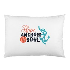 Hope Anchors The Soul Nautical Quote Pillow Cases (two Sides) by CraftyLittleNodes