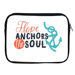 Hope Anchors The Soul Nautical Quote Apple Ipad 2/3/4 Zipper Cases by CraftyLittleNodes