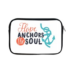 Hope Anchors The Soul Nautical Quote Apple Ipad Mini Zipper Cases by CraftyLittleNodes
