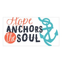 Hope Anchors The Soul Nautical Quote Satin Shawl by CraftyLittleNodes