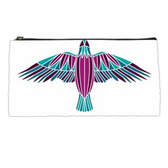 Stained Glass Bird Illustration  Pencil Cases by carocollins