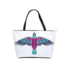 Stained Glass Bird Illustration  Shoulder Handbags by carocollins
