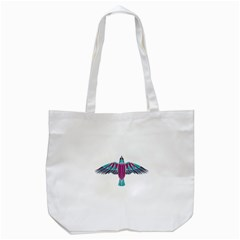 Stained Glass Bird Illustration  Tote Bag (white)  by carocollins