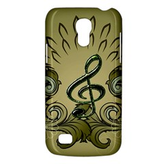 Decorative Clef With Damask In Soft Green Galaxy S4 Mini by FantasyWorld7