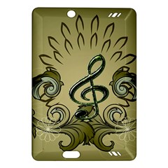 Decorative Clef With Damask In Soft Green Kindle Fire HD (2013) Hardshell Case by FantasyWorld7
