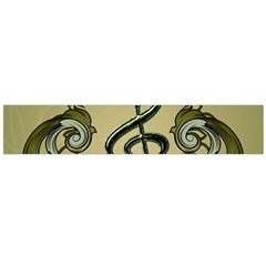Decorative Clef With Damask In Soft Green Flano Scarf (Large)  by FantasyWorld7