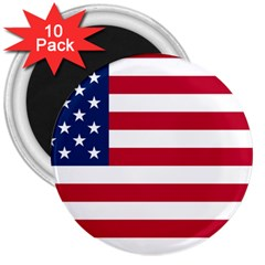 Usa1 3  Magnets (10 pack)  by ILoveAmerica