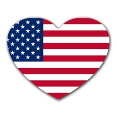 Usa1 Heart Mousepads by ILoveAmerica