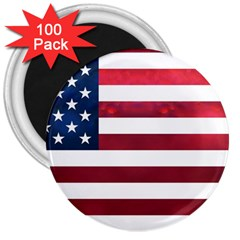 Usa2 3  Magnets (100 pack) by ILoveAmerica