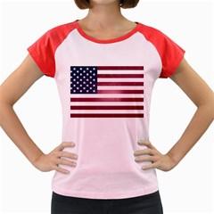 Usa3 Women s Cap Sleeve T Shirt by ILoveAmerica