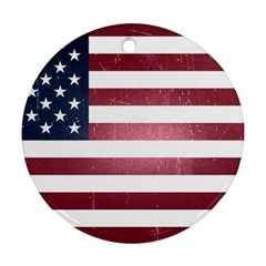 Usa3 Round Ornament (two Sides)  by ILoveAmerica
