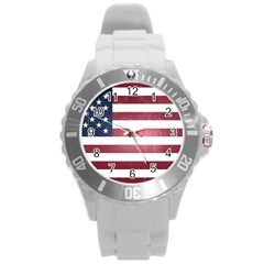 Usa3 Round Plastic Sport Watch (l)