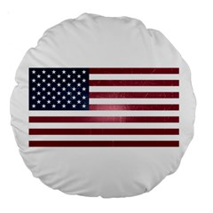 Usa3 Large 18  Premium Round Cushions by ILoveAmerica