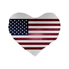 Usa3 Standard 16  Premium Heart Shape Cushions by ILoveAmerica