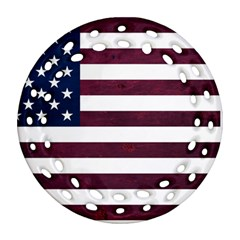 Usa4 Round Filigree Ornament (2side) by ILoveAmerica