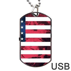 Usa5 Dog Tag Usb Flash (two Sides)  by ILoveAmerica