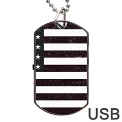 Usa6 Dog Tag Usb Flash (one Side) by ILoveAmerica