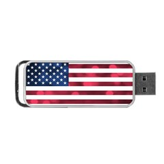 Usa9999 Portable Usb Flash (one Side) by ILoveAmerica