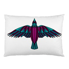 Stained Glass Bird Illustration  Pillow Cases by carocollins