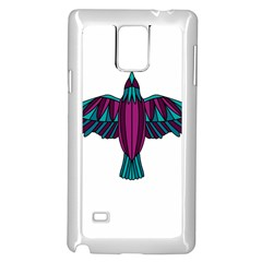 Stained Glass Bird Illustration  Samsung Galaxy Note 4 Case (White) by carocollins