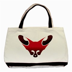 Fox Logo Red Gradient  Basic Tote Bag  by carocollins
