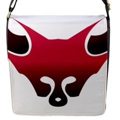 Fox Logo Red Gradient  Flap Messenger Bag (s) by carocollins