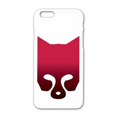 Fox Logo Red Gradient  Apple Iphone 6/6s White Enamel Case by carocollins
