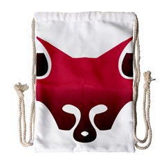 Fox Logo Red Gradient  Drawstring Bag (large) by carocollins
