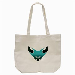 Fox Logo Blue Gradient Tote Bag (cream)  by carocollins
