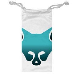 Fox Logo Blue Gradient Jewelry Bags by carocollins