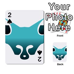 Fox Logo Blue Gradient Playing Cards 54 Designs