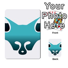 Fox Logo Blue Gradient Multi Purpose Cards (rectangle)