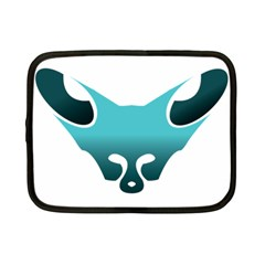 Fox Logo Blue Gradient Netbook Case (small)  by carocollins