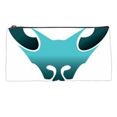 Fox Logo Blue Gradient Pencil Cases by carocollins