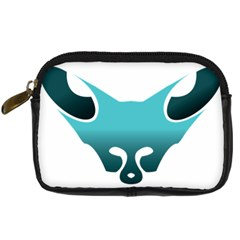 Fox Logo Blue Gradient Digital Camera Cases by carocollins