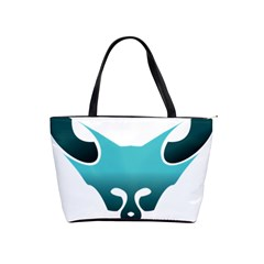Fox Logo Blue Gradient Shoulder Handbags by carocollins