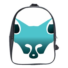 Fox Logo Blue Gradient School Bags(large)  by carocollins