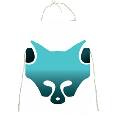 Fox Logo Blue Gradient Full Print Aprons by carocollins