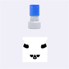 Fox Logo Blue Gradient Rubber Round Stamps (small)